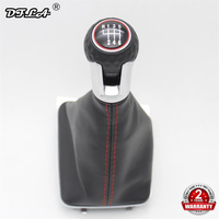 For VW Golf 7 A7 MK7 GTI GTD 2013 2014 2015 2016 2017 2018 Car 6 Speed Car Gear Stick Level Shift Knob With PU Leather Boot