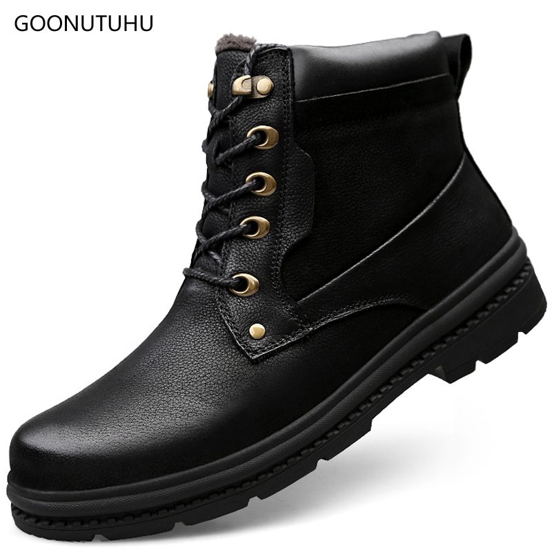 2018 winter mens boots leather army shoes causal ankle snow boot big size 37-47 black shoe man  tactical military boots for men2018 winter mens boots leather army shoes causal ankle snow boot big size 37-47 black shoe man  tactical military boots for men