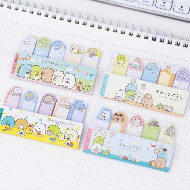 75 pages pack cute kawaii sumikko gurashi memo pad sticky notes