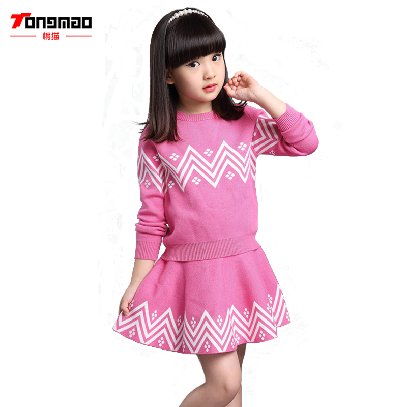 TONGMAO Autumn Winter Warm Children Girls Clothing Set Kids Pullover And Skirt Set Baby Girls Clothes Set Suits Girls Tracksuits children autumn and winter warm clothes boys and girls thick cashmere sweaters