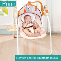 Ppimi Baby Rocking Chair, Electric Cradle, Recliner Bluetooth Coax Treasure Artifact, Newborn bed automatic swing bed
