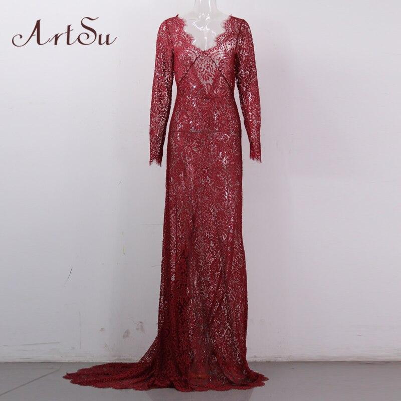 арцу 2017 женщин элегантное кружевное длинное платье пикантные макси видеть сквозь цветочные с V-образным вырезом вечеринка летние платья платья asdr20034