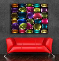 Large Size Printing Oil Painting Mosaic Stained Glass Wall Painting Decor Wall Art Picture For Living