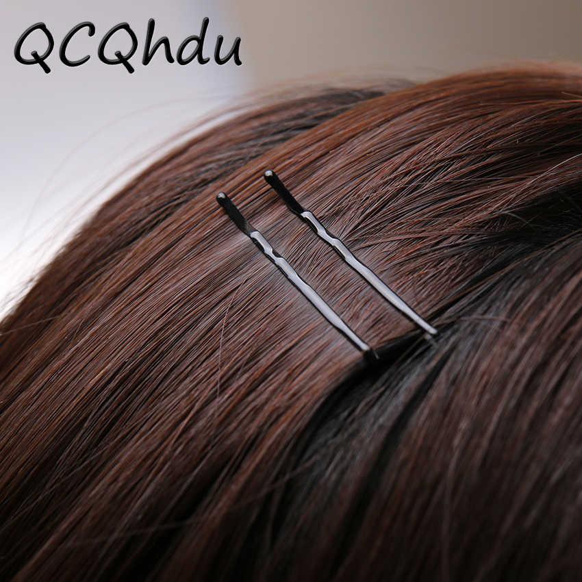 60PCS שחור בלתי נראה שיער קליפים גל ישר סיכות אוחז סיכת פופולריות פשוט סיכת ראש עבור סגסוגת שיער אבזרים