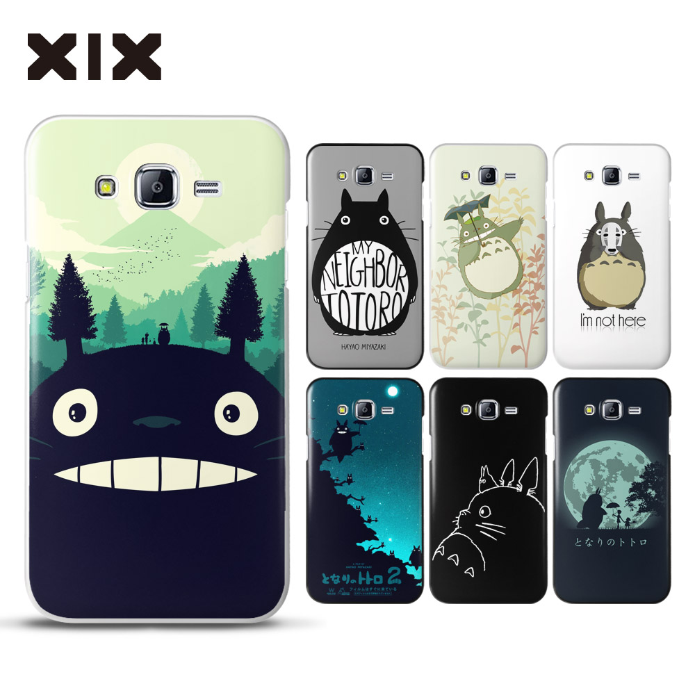 for coque samsung galaxy j7 cute totoro hard pc cover for. Black Bedroom Furniture Sets. Home Design Ideas