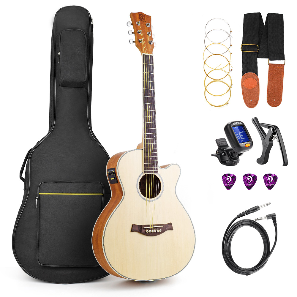 36 size 3 4 travel guitar acoustic guitar kit guitarra electro acustica electric guitar kit in. Black Bedroom Furniture Sets. Home Design Ideas