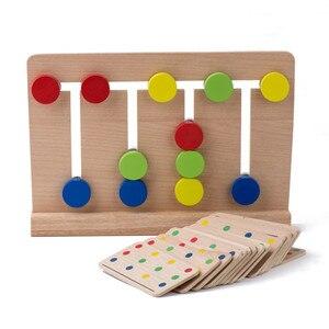 Image 2 - Đồ Chơi Cho Bé Montessori 4 Màu Trò Chơi Màu Sắc Phù Hợp Cho Giáo Dục Tuổi Ấu Thơ Mầm Non Đào Tạo Đồ Chơi Học Tập