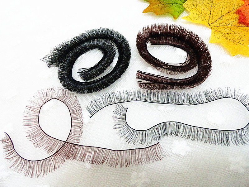 Black White Brown 3 Colors 1cm*20cm DIY Eyelashes for BJD SD Reborn Doll Eye Lashes for 1/3 1/4 1/6 1/8 Dolls Eyelash 30Pcs/Lot handsome grey woolen coat belt for bjd 1 3 sd10 sd13 sd17 uncle ssdf sd luts dod dz as doll clothes cmb107