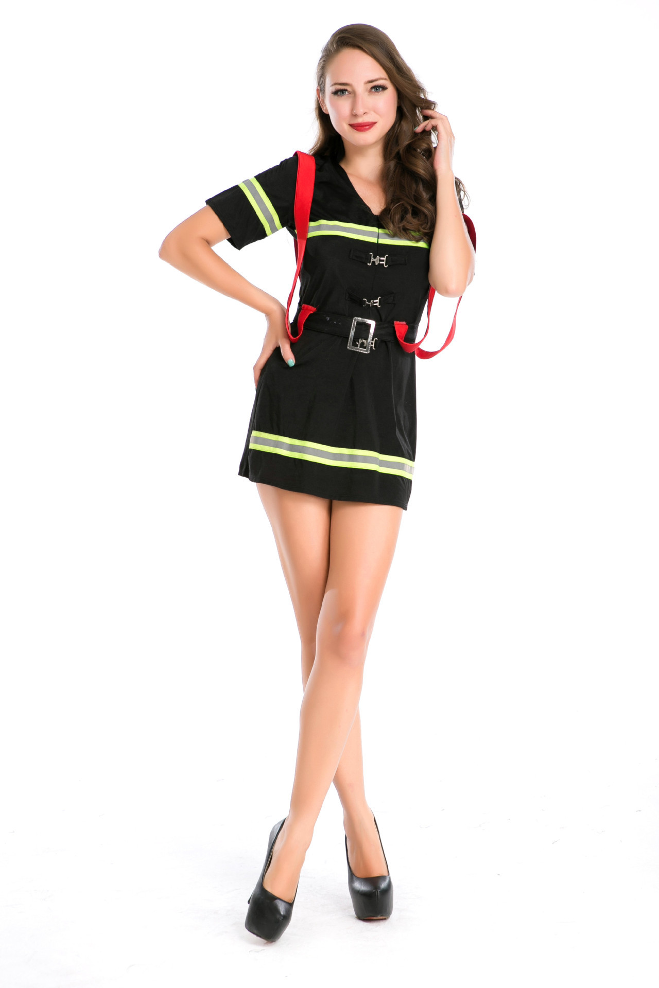lady new sexy halloween costumes women firewoman halloween cosplay costume girls night clube make up party - Fire Girl Halloween Costume