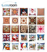 Snow DIY Acrylic Yarn Embroidery Pillow Tapestry Canvas Cushion Front Cross Stitch Pillowcase
