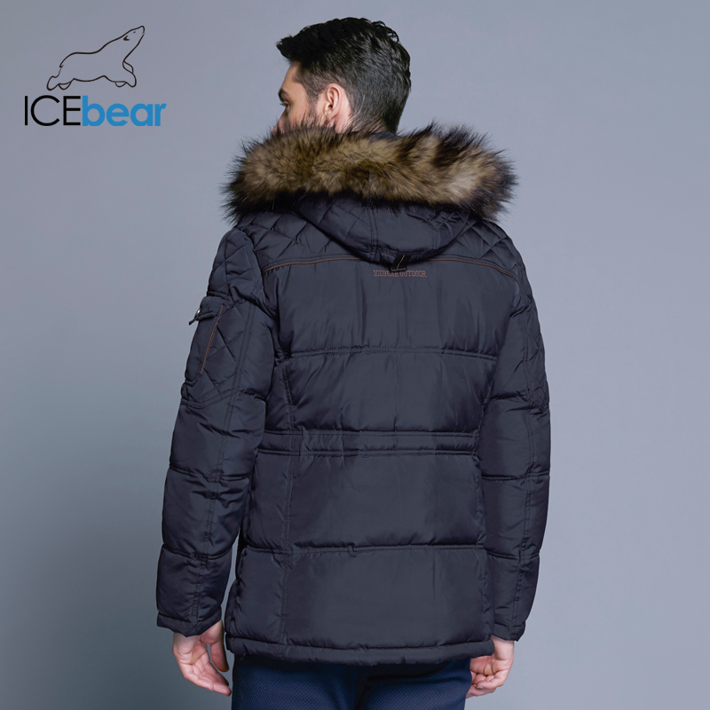 ICEbear 2018 Fashion Winter New Jacket Men Warm Coat Fashion Casual Parka Medium-Long Thickening Coat Men For Winter 15MD927D 3