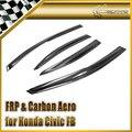 Car-styling Para Honda Civic FB 2012 (4 Puertas) Carbon Fiber Deflector De Viento En la Acción