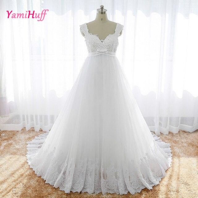 Sexy Hochzeitskleid Für Schwangere Frauen Flügelärmeln V ausschnitt ...