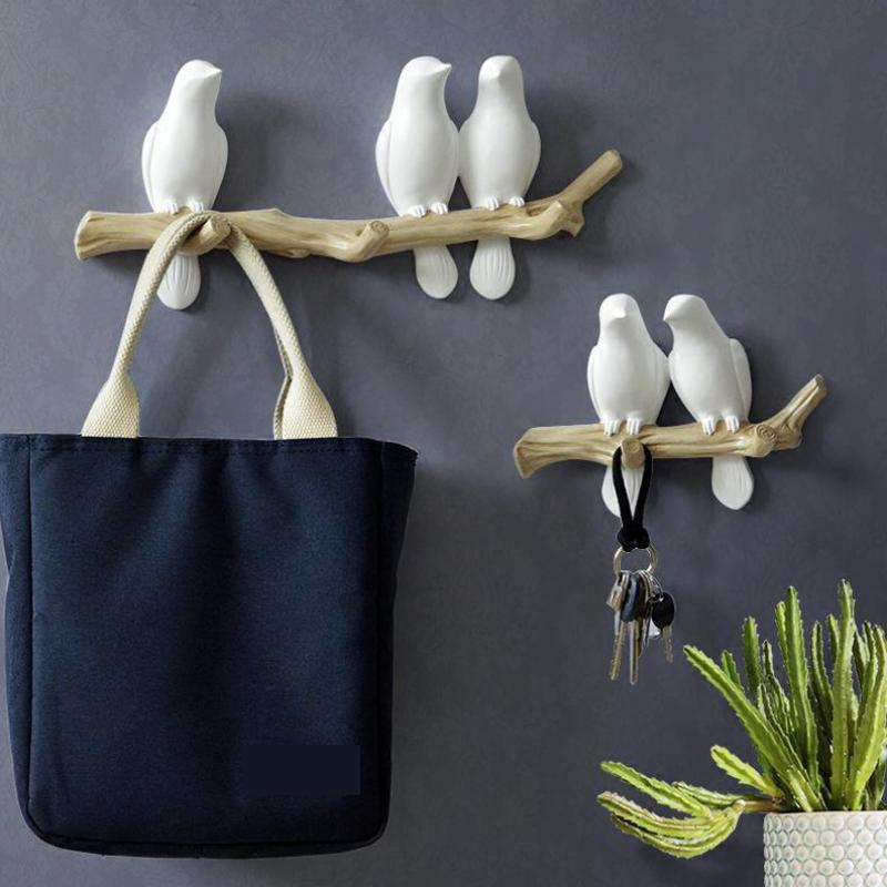 Bird Hook Hang Clothes Hooks On The Wall Key Holder Contracted Europe Type For Living Room Bathroom Porch Wall Decoration