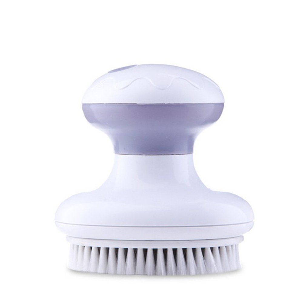 4 IN 1 Electric Bath Brush Vibration Face Body Back Cleaning Massager Tools Waterproof SPA Cleansing Massage Shower Brush silicone head body massager shampoo scalp massage brush hair washing comb body shower brush bath spa slimming massage brush