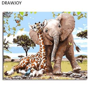 DRAWJOYกรอบภาพวาดภาพและการประดิษฐ์ตัวอักษรของL Oelyสัตว์ภาพวาดDIYโดยตัว