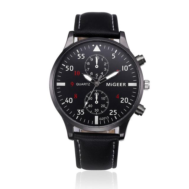 Retro Design Leather Band Watches Men Top Brand Relogio Masculino 2018 NEW Mens Sports Clock Analog Quartz Wrist Watches Zer