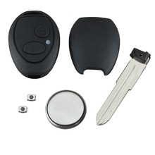 2 Buttons Remote Key Fob Case FULL Repair Kit Case Shell For Land Rover For Discovery 2 TD5 Refit Car Key Cove Case 2 buttons uncut blade keyless entry remote key shell case for rover land rover freelander zs zr 200 400 25 45 refit key shell