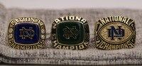 A Set 3pcs 1973 1977 1988 Notre Dame Fighting Irish NCAA National College Football Championship Copper