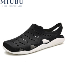 MIUBU 2019 Summer EVA Massage Slippers Sandals Men Shoes Fashion Casual Hollow Breathable Beach Flip Flops Flats Water Sandalias miubu 2019 summer eva massage slippers sandals men shoes fashion casual hollow breathable beach flip flops flats water sandalias