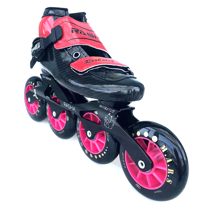 100% original RASHA racing skates Inline Speed Skates Professional Roller Patines Men kids Inline Skating Shoes for Child цена