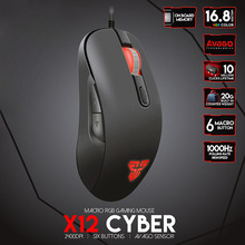 Gaming Mouse Mice 16.8 RGB 2400dpi 1000HZ USB Wire Ergonomic Design For PC Computer SL@88