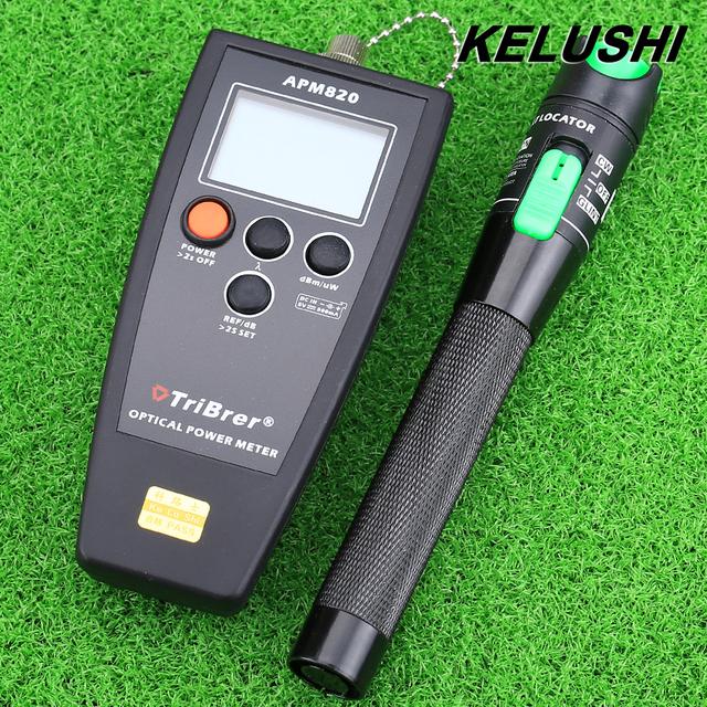 KELUSHI Herramienta Nueva fibra FTTH Fibra óptica medidor de potencia con 20 mW 2 en 1 probador De Fibra Óptica visual fault locator envío rápido