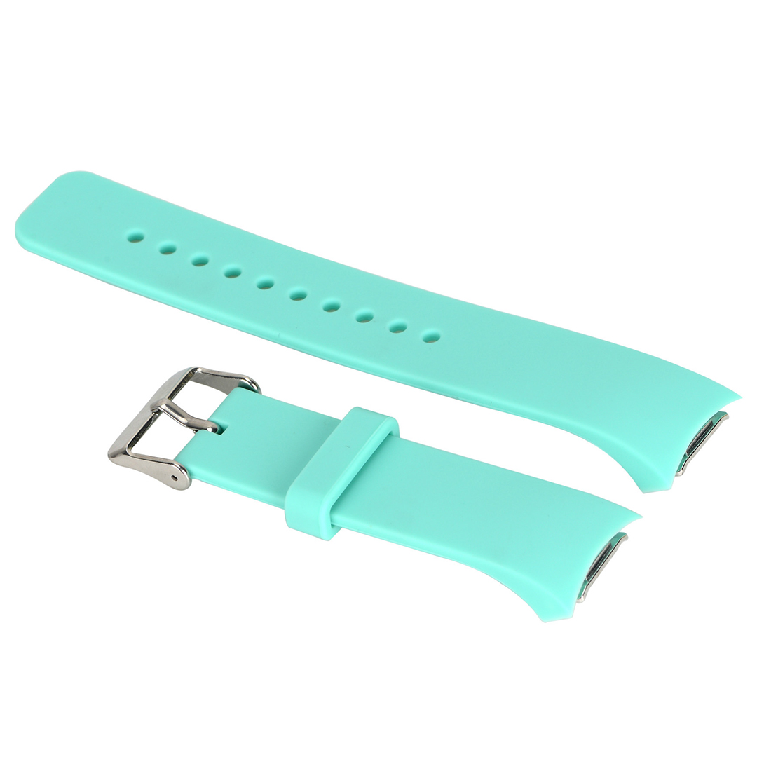 Luxury Silicone Watch Band Strap for Samsung Galaxy S2 Gear SM-R720 Lake Green 2016 silicone rubber watch band for samsung galaxy gear s2 sm r720 replacement smartwatch bands strap bracelet with patterns