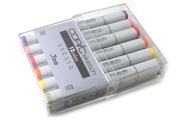 Copic Sketch Markers 12 Piece Art Brush Marker Set Japan