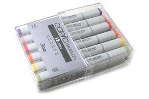 Image 1 - Copic szkic markery 12 sztuka pędzelek artystyczny zestaw markerów japonia