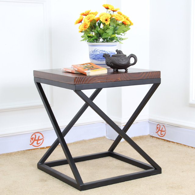 Astounding Us 327 0 Nordic Ikea Iron Retro Square Wood Coffee Table Small Tea Table Shelves Stylish Furniture Side A Few Corner A Few Side Tables In Nordic Evergreenethics Interior Chair Design Evergreenethicsorg