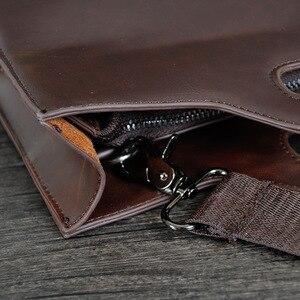 Image 5 - 2019 Vintage الرجال حقيبة الأعمال حقائب مكتبية مجنون الحصان الجلود حقيبة يد جديدة الكمبيوتر حقيبة لابتوب حقائب كروسبودي عادية