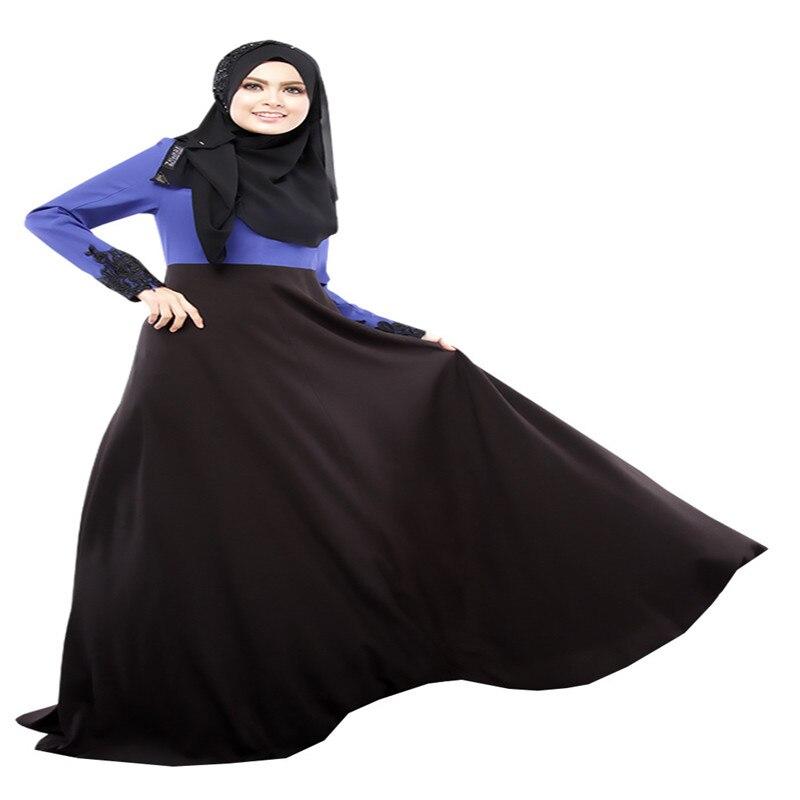 Bubble Tea Women Muslim Islamic Dress Long Sleeve 2Color Dubai Abaya - Pakaian kebangsaan - Foto 6