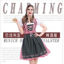7815de10cd Plus size 3XL German Beer Maid Costume Women Oktoberfest Dirndl Dress Adult  Halloween Party Outfit Dirndl
