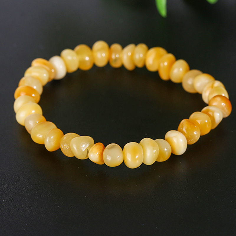 JIUDUO Genuine natural amber bracelet ladies high-end occasion bracelet chicken yellow yellow beeswax aid bracelet lost ink короткое платье