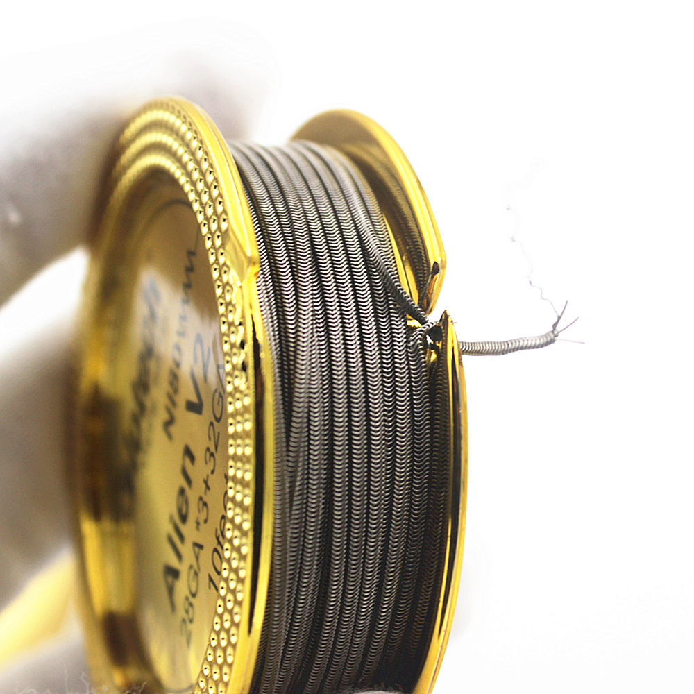 Glotech Newest Alien V2 Heating Wire High Density Ni80 316L Alien Heating Wire for RDA RBA RTA Vaporizer DIY Coils Building