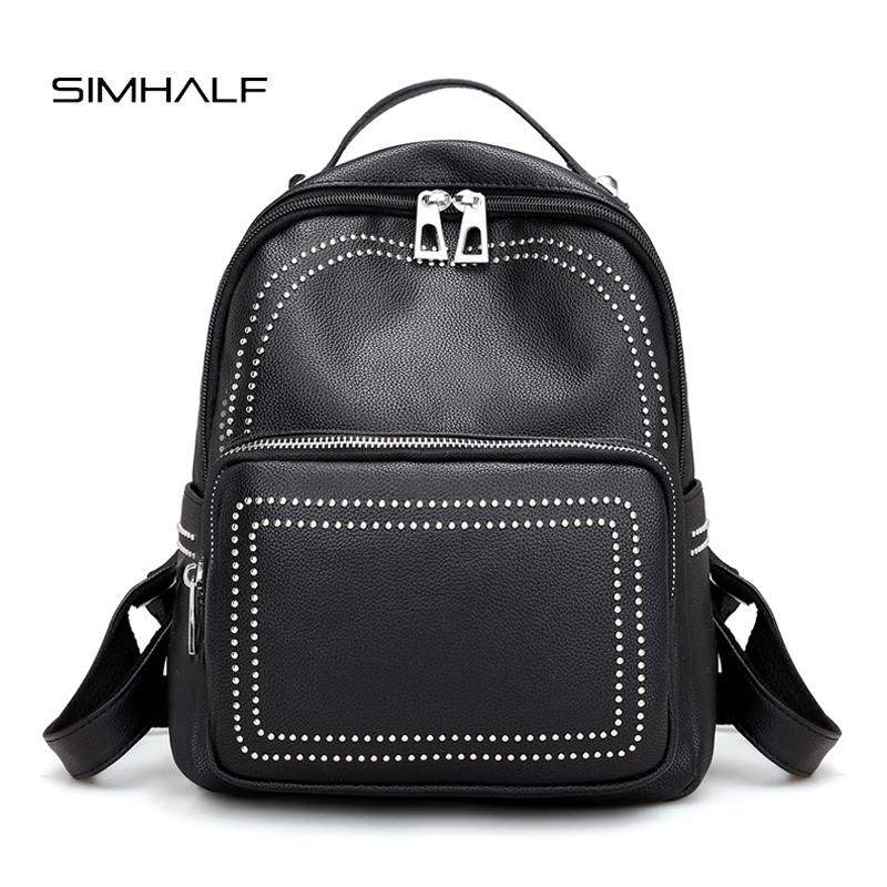SIMHALF Fashion Women Backpacks Women s PU Leather Backpacks Girls School Bags High Quality Ladies Bags