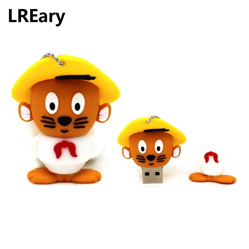 Cartoon Speedy Gonzales USB Flash Drive Mexican Hat Mouse Pen Drive Looney Tunes Pendrive USB 2.0 4gb/8gb/16gb/32gb Gift