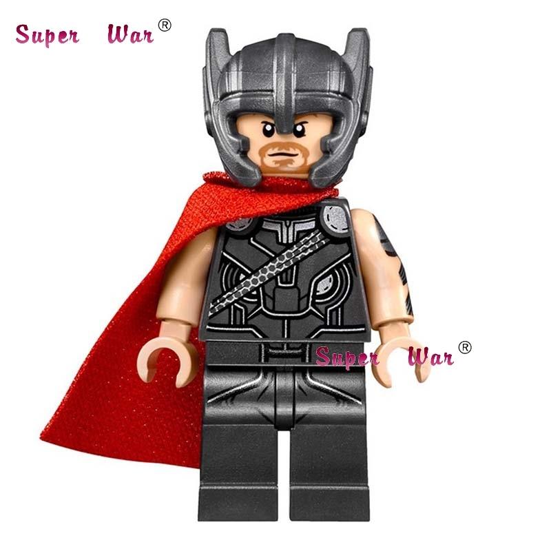 1PCS star wars super heroes dc Marvel Thor with hammer comics building blocks models bricks toys for children kits ultimate comics new ultimates thor reborn