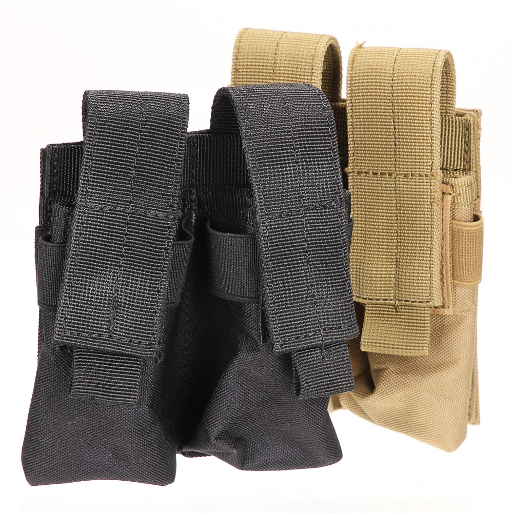 choose Tactical Molle Double Cartridge Clip Bag Pistol Magazine Mag Pouch Carry Bag
