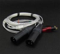 LN004739 3pin XLR Male PCOCC + Silver Plated Cable for Sennheiser HD525 HD545 HD565 HD650 HD600 HD580