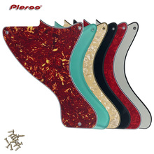Pleroo Custom Guitar Parts - For US JR LP Les Paul Junior Guitar pickguard Scratch Plate ,Multicolor choice pleroo custom guitar parts for us standard jazzmaster style guitar pickguard scratch plate replacement electric guitar