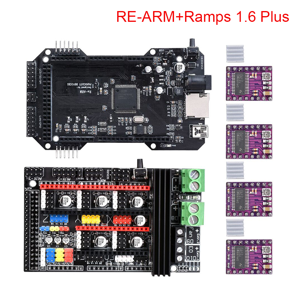3D Printer Parts Ramps 1 6 Plus Control Board Cloned RE ARM 3D Printer Board TMC2130