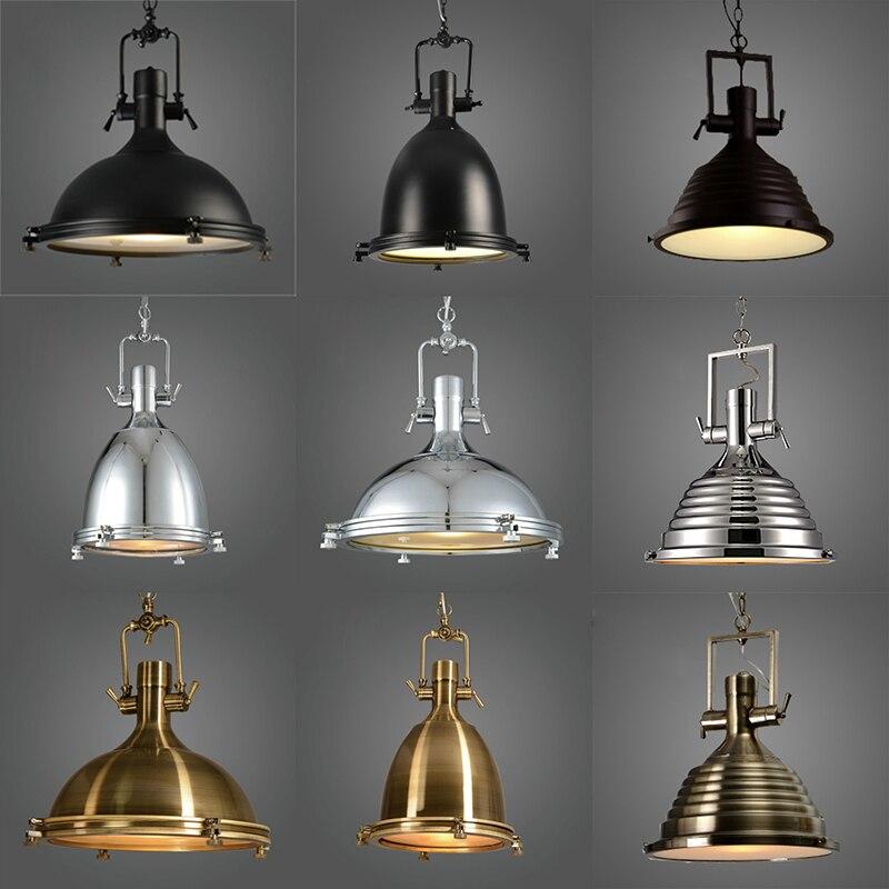 Классический Лофт ретро промышленные металлы повесить подвесной лампы E27 AC 110 V 220 V светодиодный подвесные светильники для Кухня светильник