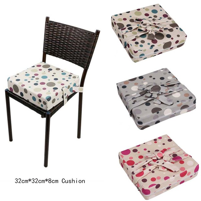 Us 13 32 20 Off Cute Dot Booster Seat Cushion Baby Feeding Increased High Chair Cushion Children Dining Chair Anti Slip Soft Pad In Booster Seats