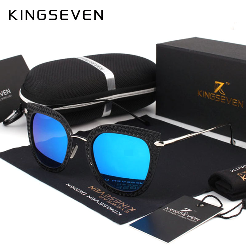 Kingseven 2017 New Sunglasses Women Brand Retro Sun glasses Polarized Luxury Ladies Designer Butterfly Eyewear oculos de sol