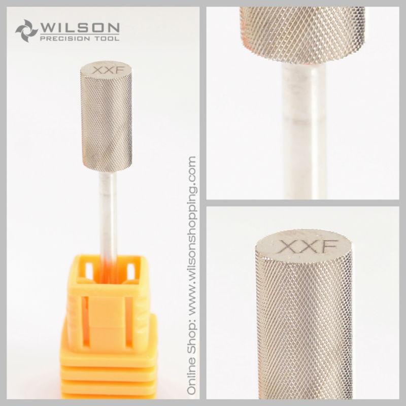 Small Barrel Bit - Double Fine (XXF) - Gold / Silver - WILSON Carbide Nail Drill Bit Small Barrel Bit - Double Fine (XXF) - Gold / Silver - WILSON Carbide Nail Drill Bit