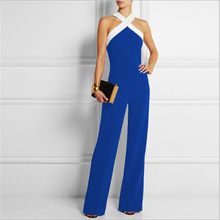 Женская мода Холтер комбинезон с открытыми плечами бинты Комбинезоны женские офисные одежда WS052E