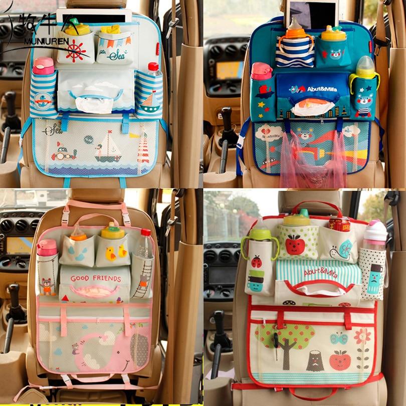 Cute Cartoon Car Seat Back Organizer Storage Bags Hanging Car Organizador Bags Pocket Car styling for Kids Children