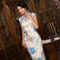 S-3XL Chinese Women's Satin Cheongsam Qipao Cotton Silk Long Dress China Oriental Dresses Mother Traditional Wedding Cheongsams